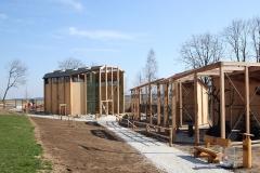 Falknerei und Greifvogelpark Katharinenberg - Neubau von Holzvolieren , Zimmererarbeiten
