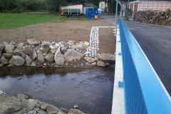 Neubau Brücke über die Röslau in Seußen
