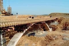 Neubau der Bogenbrücke in Selb