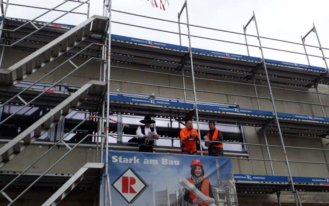 Hebfest Neubau Feuerwehrhaus in Rehau